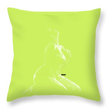 Throw Pillow featuring the mixed media Desire by TortureLord Art