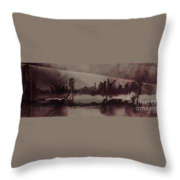 Desolation Throw Pillow by Lori Kingston