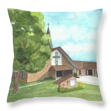 De Soto Baptist Church Throw Pillow
