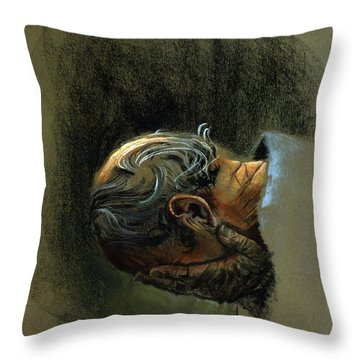 Despair. Why Are You Downcast? Throw Pillow by Graham Braddock