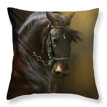 Desparate' In Gold Throw Pillow