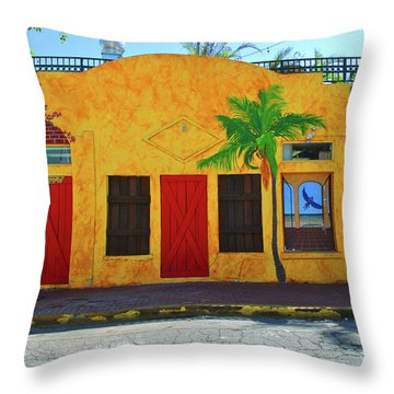 Throw Pillow featuring the photograph Desperado Palm by Jost Houk