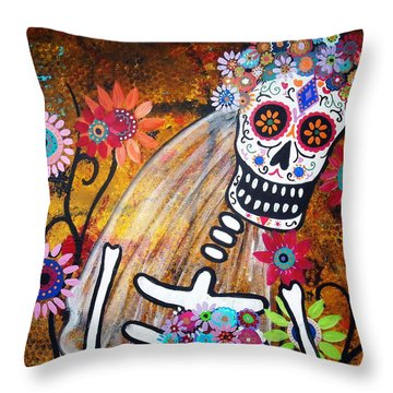 Desposada Throw Pillow by Pristine Cartera Turkus