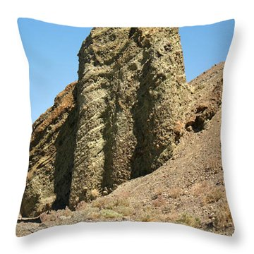 Dessicated Landscape In Death Valley National Monument Throw Pillow by Wernher Krutein