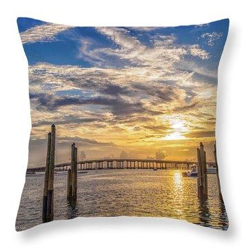 Destin Harbor #1 Throw Pillow