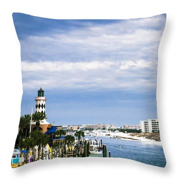 Destin Harbor  Throw Pillow