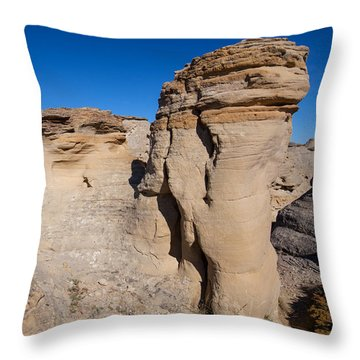 Throw Pillow featuring the photograph Destination Hoodoos by Fran Riley
