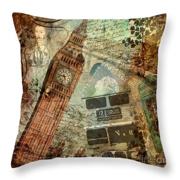 Destination London Throw Pillow