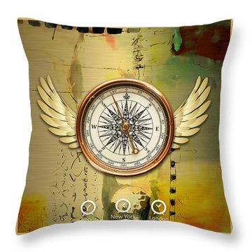 Throw Pillow featuring the mixed media Destination by Marvin Blaine