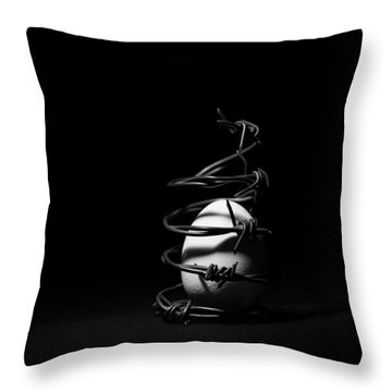 Destined To Be A Prisoner For Life - The Dark Side Of It All Throw Pillow by Yvette Van Teeffelen
