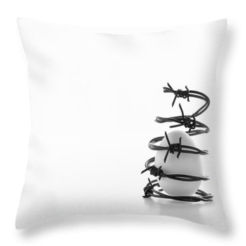 Destined To Be A Prisoner For Life Throw Pillow by Yvette Van Teeffelen