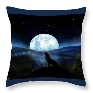 Path Of Destiny Throw Pillow by Bernd Hau