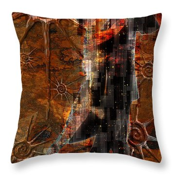 Throw Pillow featuring the digital art Destiny Tangos Con Chance En El Salon De Eternidad by Kenneth Armand Johnson