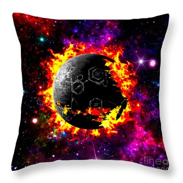 Destroyed Throw Pillow by Naomi Burgess