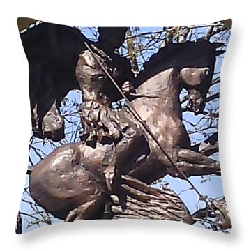 Detail From A Monument Throw Pillow