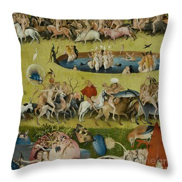 Detail From The Central Panel Of The Garden Of Earthly Delights Throw Pillow