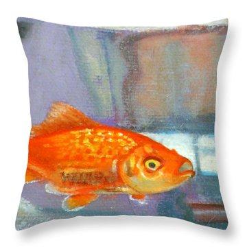 detail goldfish of Fishing Throw Pillow