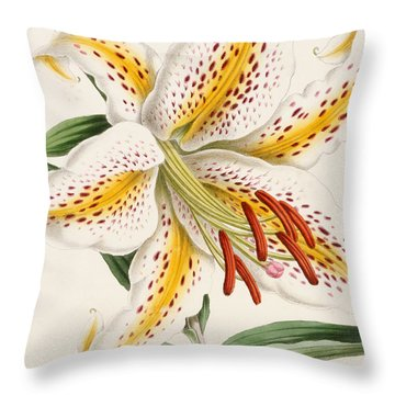 Detail Of A Lily Throw Pillow