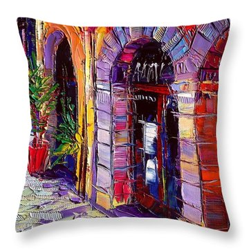 Street Throw Pillows