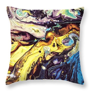 Detail Of Conjuring Throw Pillow