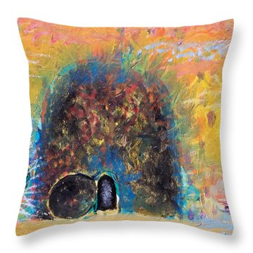 Detail Of Empty Tomb Throw Pillow