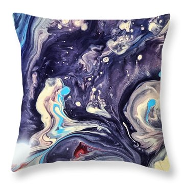 Detail Of Fluid Painting 1 Throw Pillow