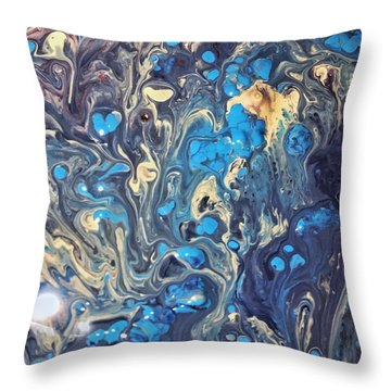 Detail Of Fluid Painting 3 Throw Pillow