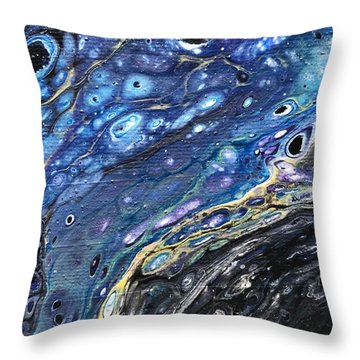 Detail Of He Likes Space 3 Throw Pillow