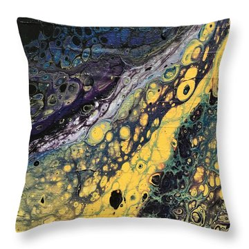 Detail Of He Likes Space 4 Throw Pillow