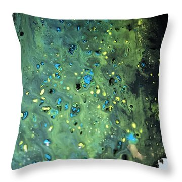 Detail Of Mixed Media Painting Throw Pillow