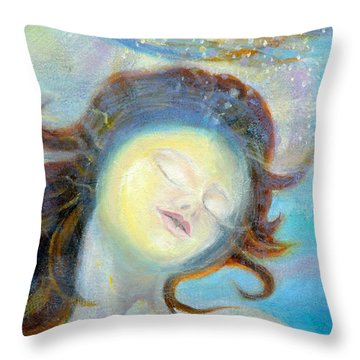 detail of Sea of the Soul Throw Pillow