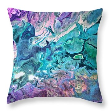 Detail Of Waves 2 Throw Pillow