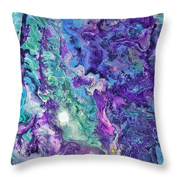 Detail Of Waves Throw Pillow