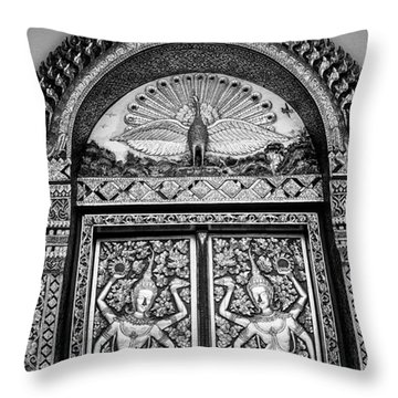 Detail On The Doors Throw Pillow