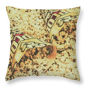 Details From The Old Drive-in  Throw Pillow
