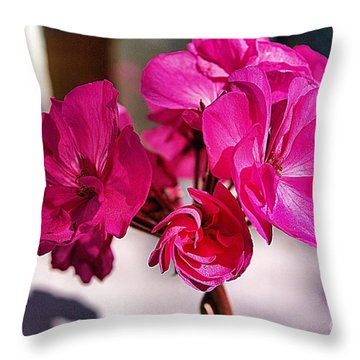 Throw Pillow featuring the photograph Details In Pink  by John S