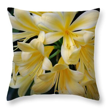 Details In Yellow And White Throw Pillow by John S