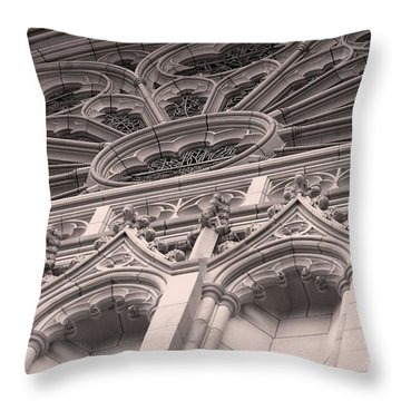 Details Of The National Cathedral Throw Pillow