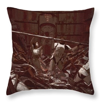 Garbage Compactor 3263827 Throw Pillow