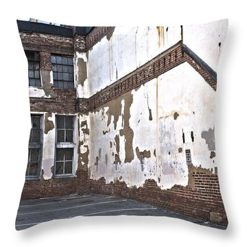 Throw Pillow featuring the photograph Deteriorated by Break The Silhouette