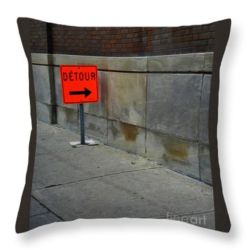 Detour  Throw Pillow