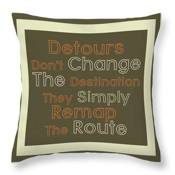 Detour Throw Pillow by Richard Homawoo