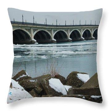 Detroit Belle Isle Bridge Throw Pillow
