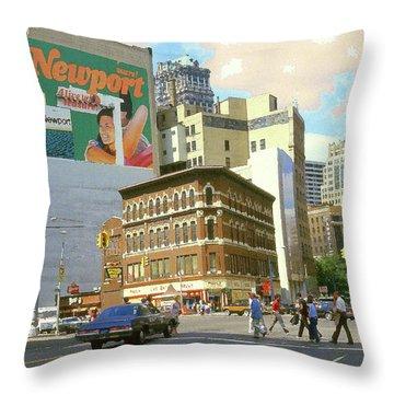 Detroit Michigan 84 - Watercolor Throw Pillow