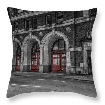 Detroit Fire Department Headquarters  Throw Pillow