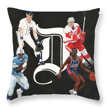 Legends Of The D Throw Pillow