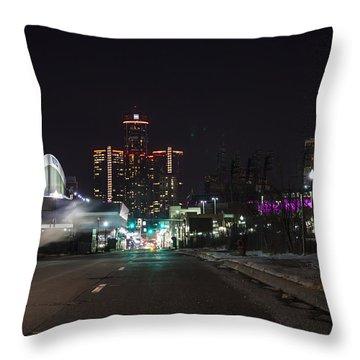 Throw Pillow featuring the photograph Detroit Michigan by Nicholas Grunas