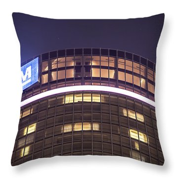 Throw Pillow featuring the photograph Detroit Renaissance Center by Nicholas  Grunas