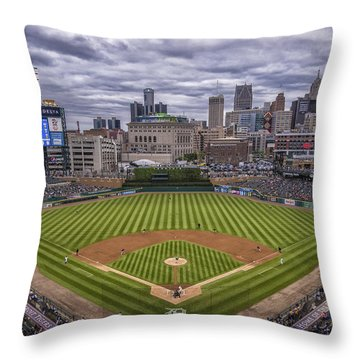Detroit Tigers Comerica Park 4837 Throw Pillow