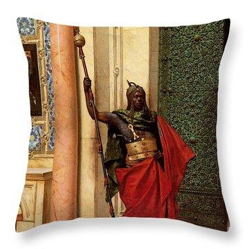 Deutsch Ludwig A Nubian Guard Throw Pillow